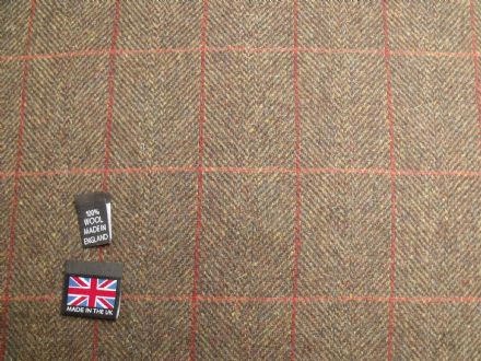 Country Tweed Windowpane Check Fabric AZ93
